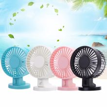 USB Pengisian Portable Handheld Electric Fan Air Conditioner Cooler Cooling Fan Musim Panas Meja Kipas Pendingin Biru Pink(China)