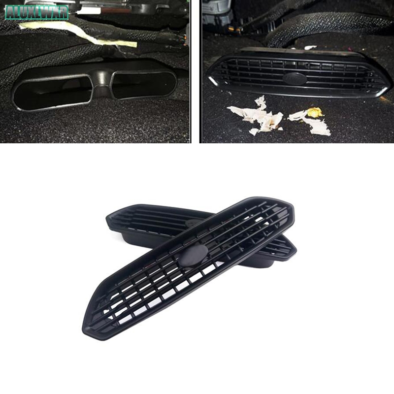 2PCS Seat AC Heat Floor Air Conditioner Duct Vent Outlet Grille Cover Trim For Ford Mondeo Fusion 2013-2018 Car Accessories