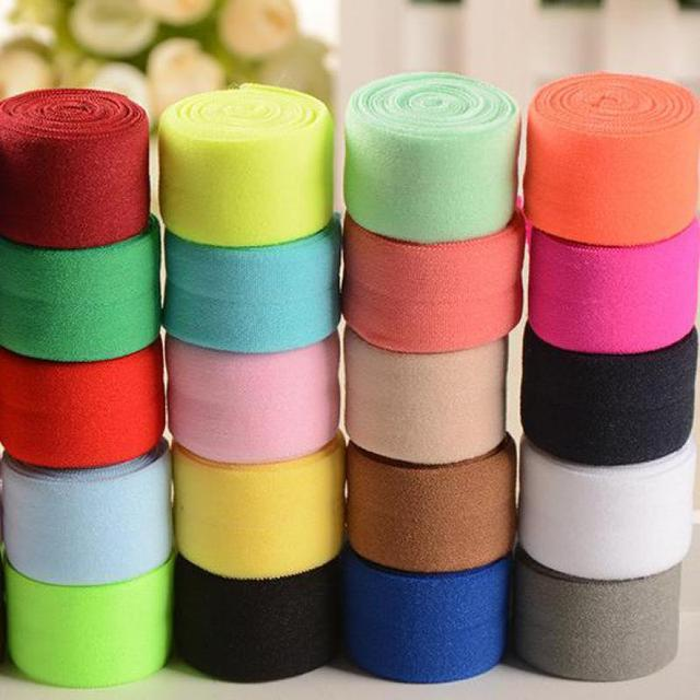 5 meters Colored Flat Sewing Elastic Band For Underwear Pants Bra Rubber Clothes Decorative Adjustable Soft Waistband Elastic