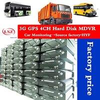 factory 4CH Realtime Recording AHD car dvr 720P 3G GPS Hard disk Car MDVR remote control truck/bus mobile dvr