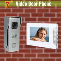 7 pulgadas pantalla video timbre intercomunicador video puerta teléfono intercomunicador Sistema de aleación de aluminio puerta Cámara visual intercomunicador