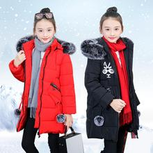 Christmas Teenage Girls Winter Jacket Coat Parka Warm Down Children's Winter Jackets Pink Black Red Clothing Winterjas Meisjes