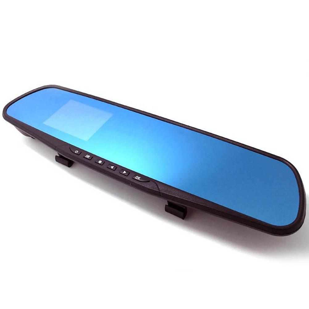 Синий Зеркало 1080 P HD Широкий HD для вождения Регистраторы 4.0 дюймов 1080 P двойной Камера Автомобильный видеорегистратор Камера Зеркало заднего вида тире камера