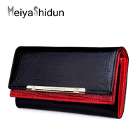 Luxury Women Wallets Patent Leather High Quality Designer Brand Coin Card Holder Wallet Lady Fashion Clutch