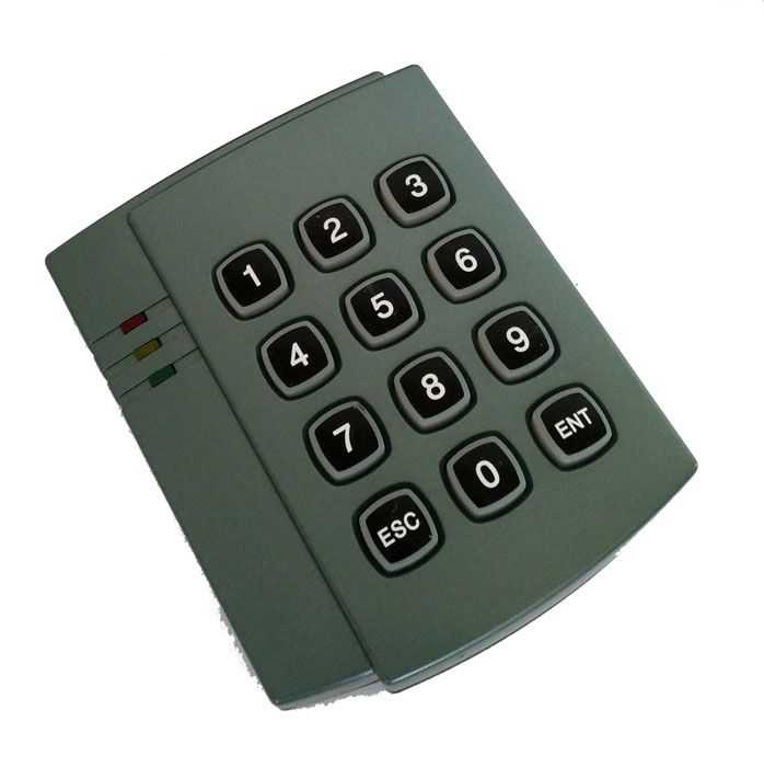 Free shipping, rfid reader, proximity Keypad em/ID card reader with wiegand26/34 output, for Access Control sn:08F-ID,min:5pcs usb pos numeric keypad card reader white