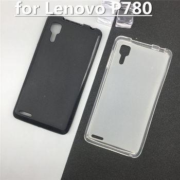 Oficjalne oryginalne silikonowe pełne etui funda dla Lenovo P780 tylna obudowa telefonu Pudding przypadki Para czarny biały Shell Bag