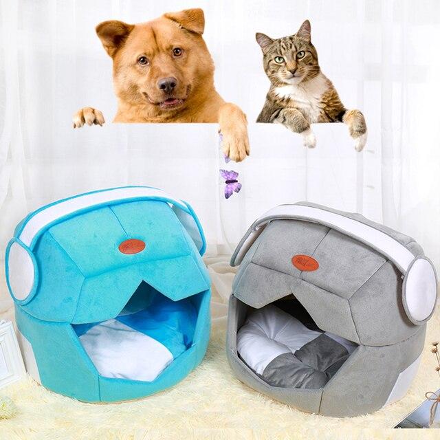 hiver chien maison chaud chat maison canapes ecouteur de dessin anime forme animal chien animal nid