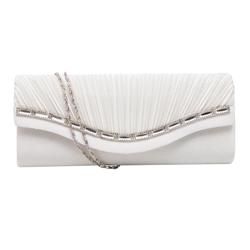 THINKTHENDO Fashion Women Rhinestone Handbag Evening Party Clutch Bag Wedding Wallet Purse naivety new fashion women tassel clutch purse bag pu leather handbag evening party satchel s61222 drop shipping
