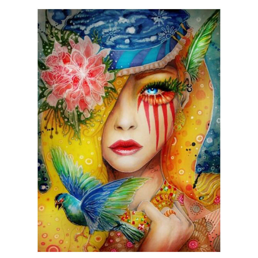 Paint By Number,Abstract Picture,Colorful Woman,Canvas Painting Coloring By Numbers