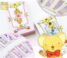 Аниме Косплей карты Captor Sakura KINOMOTO Таро С Clow карты Покер Волшебная Книга набор в коробке реквизит подарок игральные карты Des A632