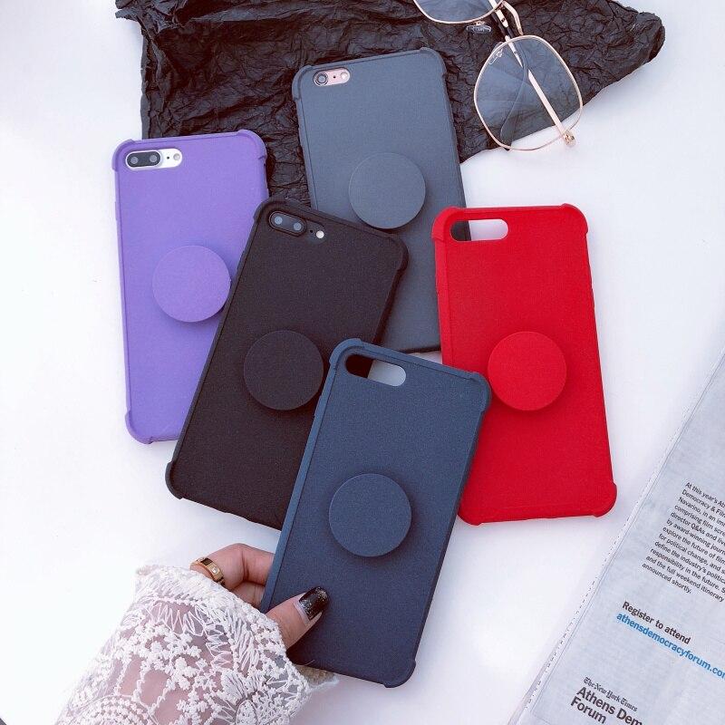 NTSPACE Роскошные Плюшевые Краски водителя противоударный чехол для телефона для iPhone X 8 7 6 6 S плюс держатель Подставка для крышки samsung S9 Plus