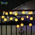 Bola linterna Solar Luces de la Secuencia 5 M 20 LED Lámpara Solar Al Aire Libre de Iluminación de Hadas Globo Luces Decorativas para el Partido de Navidad vacaciones