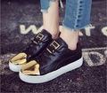 spring autumn period the new star in 2017 fish round head with low help shoes female metal head women's shoes SIZE 35-39#