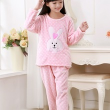 0239cc1069 2-13YEAR Spring Loungewear Coral Fleece Homewear Winter Pyjama Set Children  Extreme Soft Pjs Girls