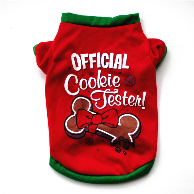 XS/S/M/L Pet Dog Clothes Christmas Costume Cute Cartoon Clothes For Small Dog Cloth Costume Dress Xmas apparel for Kitty Dogs 3