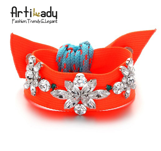 Artilady 2014 fashion  bracelets for women candy neon color jewelry