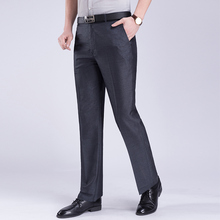 2019 New Casual Dress Pants Slim Men Classical Loose Straight leg Formal Trousers High-quality
