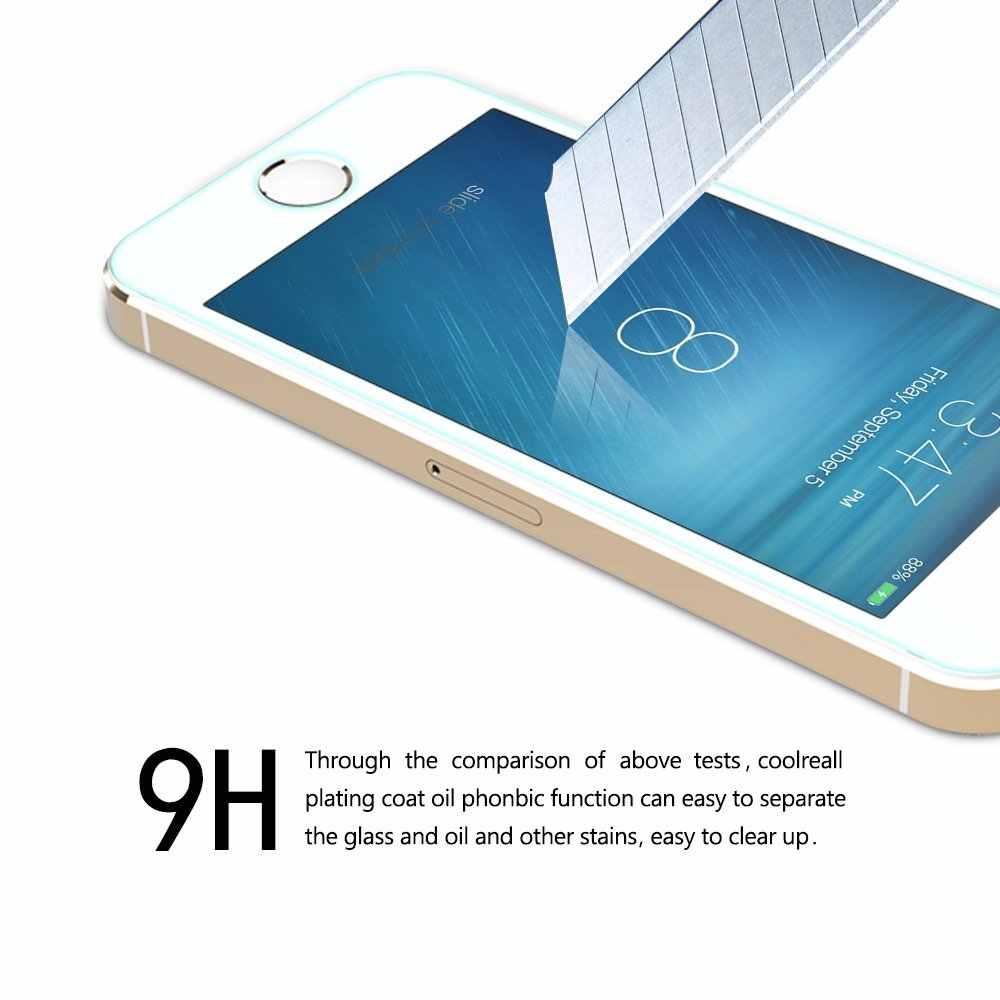 GerTong Koruyucu Temperli Cam için iphone XS Max XR 6 7 5 s se 6 6 s 8 artı Cam iphone 8 X Ekran Koruyucu Film iphone 4 4 S
