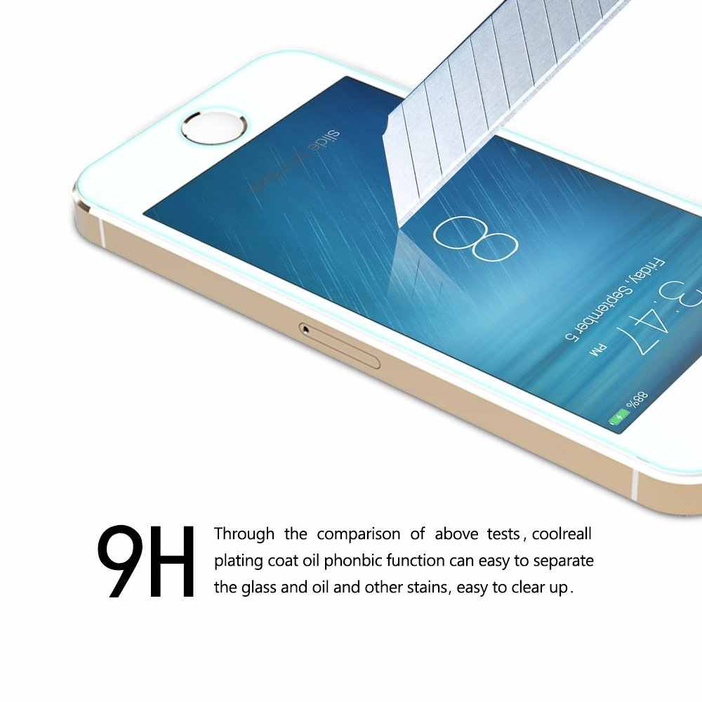 GerTong Protective Tempered Glass for iPhone XS Max XR 6 7 5 s se 6 6s 8 plus Glass iPhone 8 X Screen Protector Film iphone4 4S
