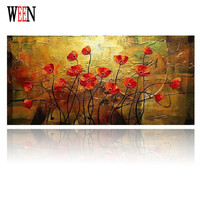 Handpainted Flowers Modern Wall Art Picture Home Decor Oil Painting On Canvas For Bedroom Unframed High