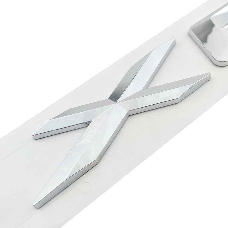 3D ABS Серебряный автомобильный Стайлинг наклейка значок для BMW X1 X3 X5 X6 серии Xdrive 20d 25d 30d 35d дверные наклейки эмблема аксессуары