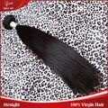 Высокое качество 7а бразильский девственные волосы необработанные прямой человеческих волос бразильского виргинские волос прямо природа черный цвет 1 шт. много