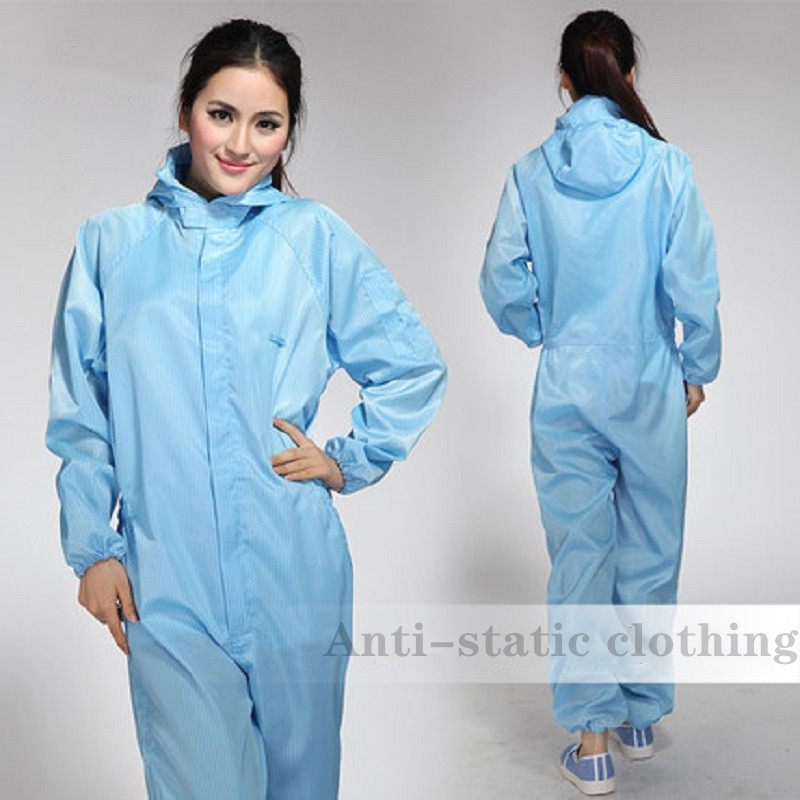 Work Uniform for Women Men Anti-static Clean Hooded Dust-proof Clothes Spray Paint Overall Washable Workshop Protective Clothing