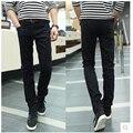 New Arrival 2017 Brand Spring Fashion Men's Slim Denim Pants  Men Black Solid Pants Casual Jeans Jogger Trousers 13M0471