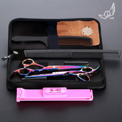 6 pulgadas de adelgazamiento que labra la herramienta pelo tijeras de acero inoxidable salón de peluquería tijeras profesional tijeras de peluquero