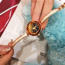 New Fashion Diamond-encrusted Womens Watches Top Brand Watch Bracelet Casual Wild Quartz Luxury  Elegant
