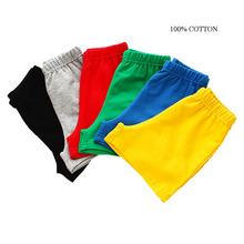Boy Shorts Summer Children Candy Color Cotton and Girl Clothes Baby Fashion Pants Boys Beach Pant 2-11y