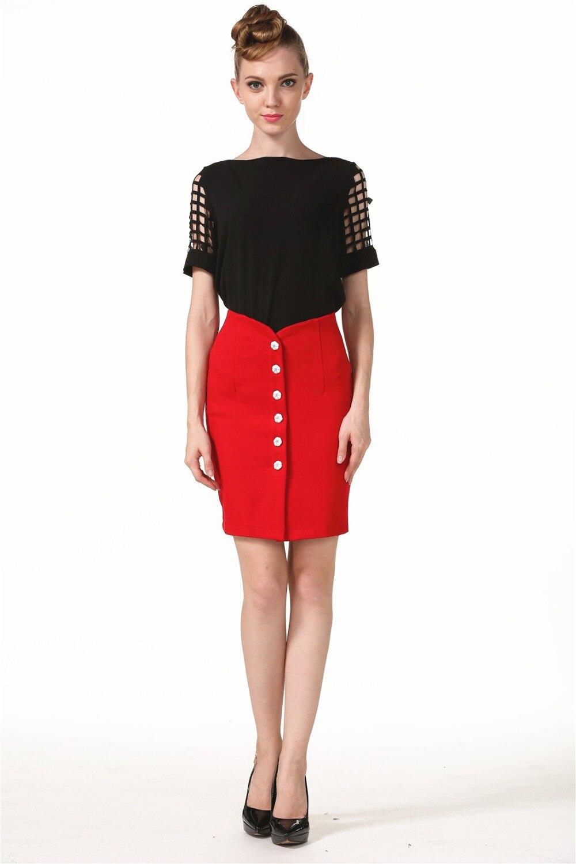 High Waist Casual Women Skirt Fashion Hot European Style Elegant Women Business Girls Skirt Plus Size Package Hip Vestidos