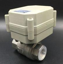 CE утвержден TF15-S2-A 2-способ BSP/ДНЯО 1/2 »Электрический Нержавеющая сталь Клапан AC/DC 9 В- 24 В 3 провода