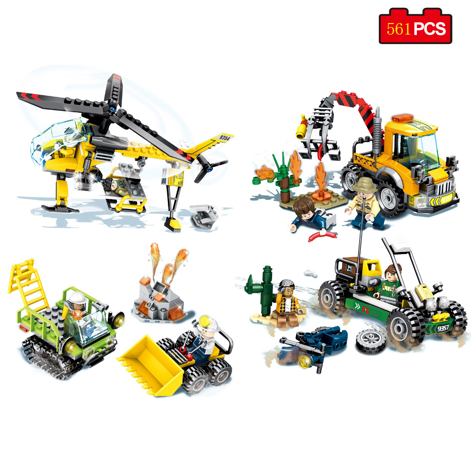 City Police Rescue Team Helicopter Cars Modle Building Blocks Compatible Legoed Technic Bricks Educational Toys For Child Gifts