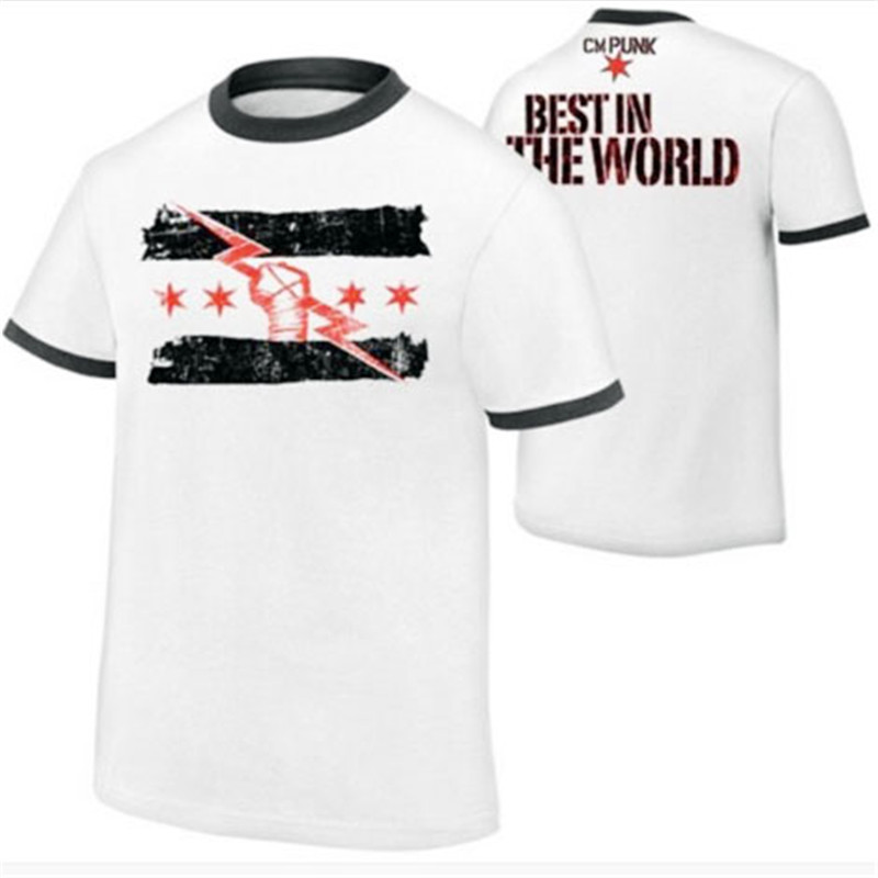 Summer New Short Sleeve Wrestling CM Punk Best Since The Day One Of The Men Printed T-shirt 2019 Men T-shirt European Size S~XL