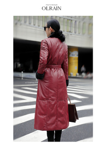 Image 3 - AYUNSUE אמיתי מעיל עור אמיתי מינק פרווה צווארון קוריאני למטה מעיל 2020 חורף מעיל נשים 100% ארוך כבש מעיל MY3743