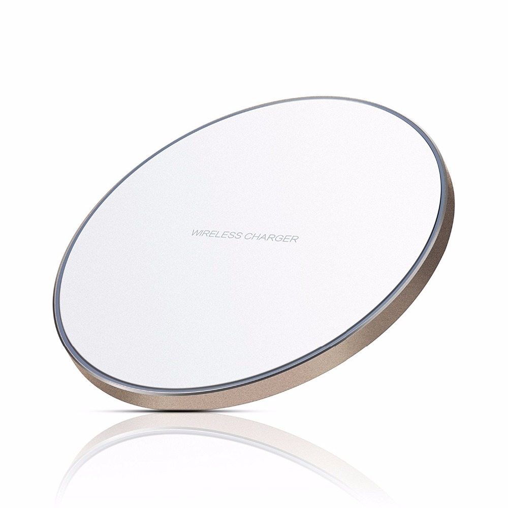 Black White Qi Wireless Charger Charging Pad for iPhone 8 8 Plus X Samsung Note 5
