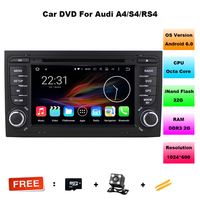 Octa Core 7 inch Android 6.0 Auto Dvd-speler Voor Audi A4 2002-2008 Touchscreen Audio Bluetooth In Dash Auto Stereo GPS Navigatie