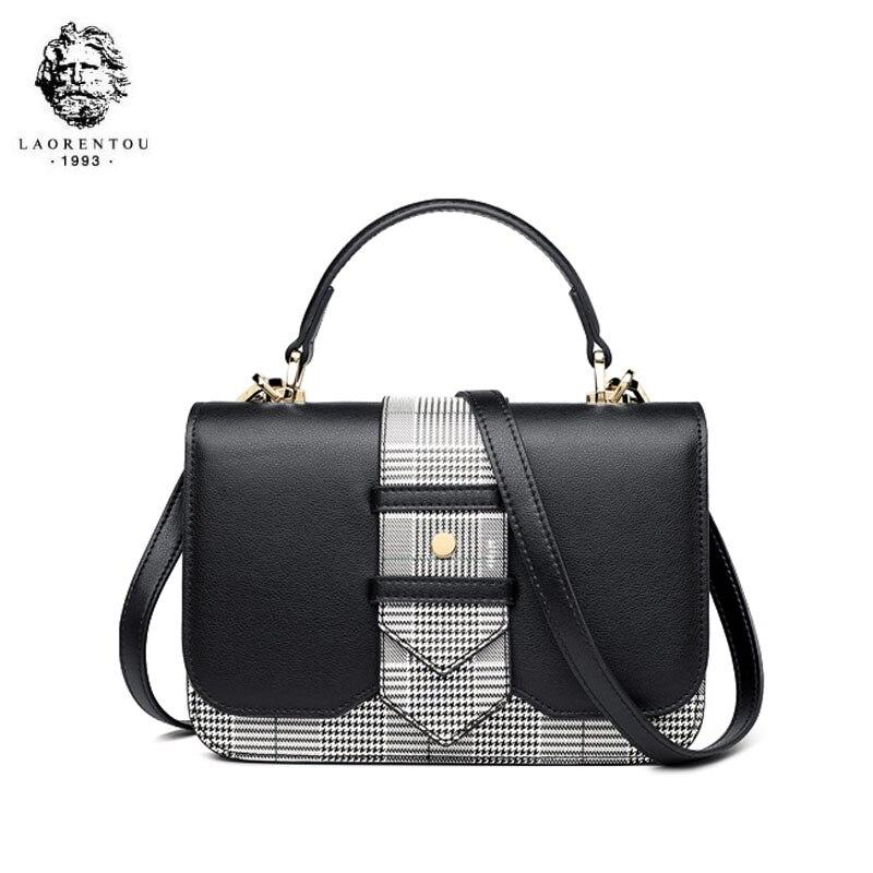 LAORENTOU bolso de marca de lujo de alta calidad 2019 nuevo bolso de hombro de moda casual salvaje portátil bolso de mensajero de cuero - 6