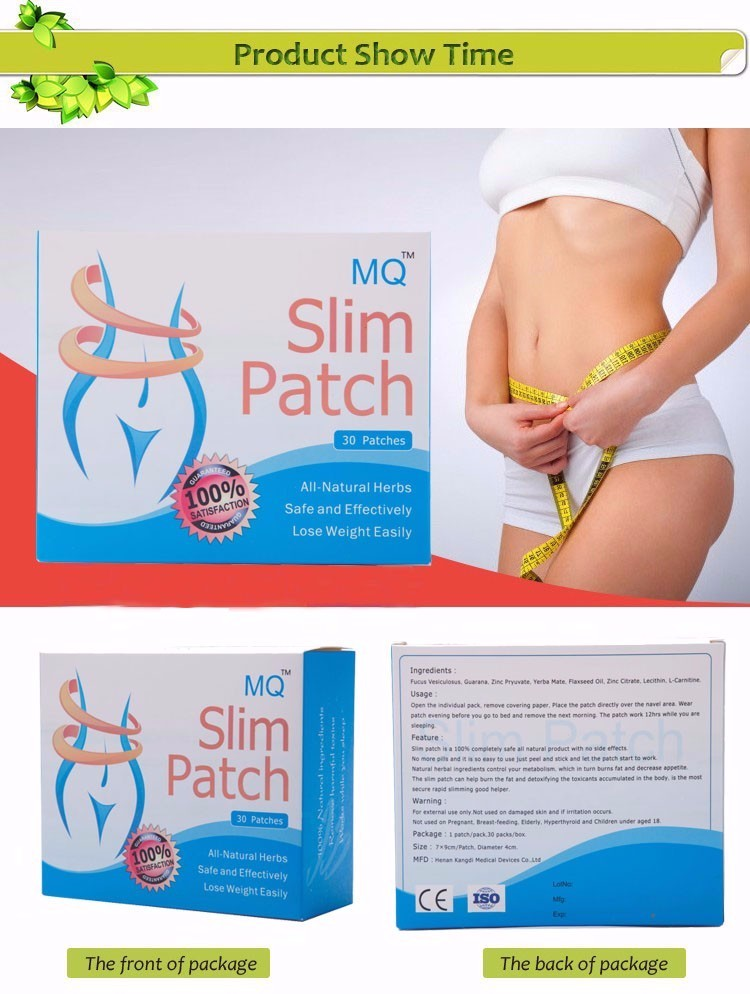 30 Pcs/Box Slim Patch Weight Loss Natural Ingredients Navel Patch For Women Men Fat Burning Slimming Body Wraps Health Products 5