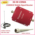 New Red 3G 2100MHz UMTS WCDMA Mobile Phone Cell Phone signal Booster Amplifier Repeater gain 60dbi 500 square meter with antenna