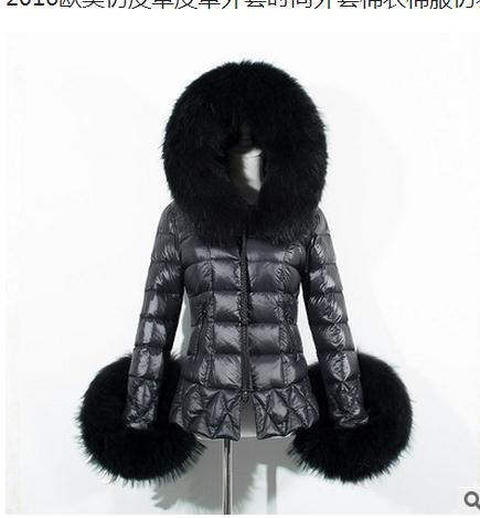 Womens Short Section Casual Pu Leather Hooded Jacket Cotton Padded Winter Autumn Female Parkas Large Size