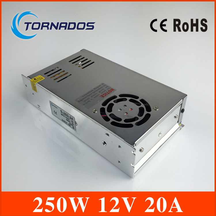 CE ROHS certification 12v 20a 240w switching power supply with OEM and ODM offered S-250-12 industrial LED power source