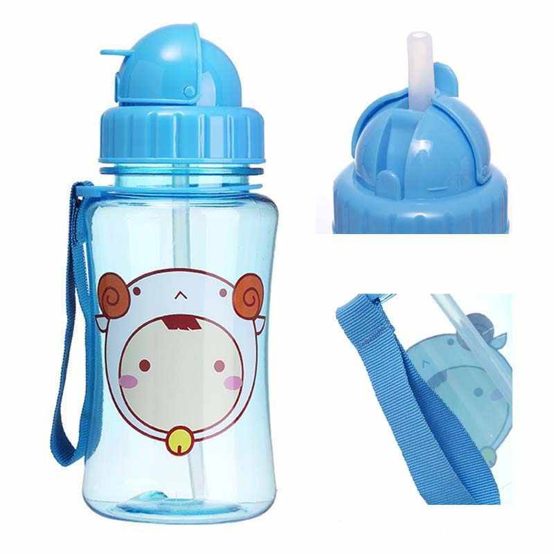 350ml Baby Kids Straw Cup Cartoon School Water Cups Cute Kettle Shaker Sport Drink Bottle Bouteille Gourde Cups