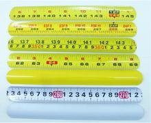 hot sell  popular MIXED COLORS Magic Ruler Slap Band Bracelets accessories metallic parts SL16313