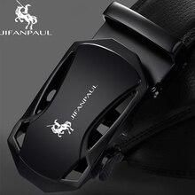 JIFANPAUL мужской кожаный черный металлический Автоматическая пряжка предназначен для трендовой молодежной моды бизнес роскошный ремень