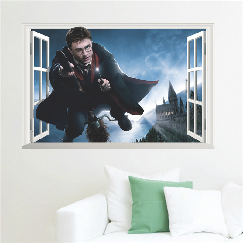 Harry Potter Poster 3D Window Decoration Wall Stickers