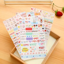 Cute Simple Life Diary Small Expression Stickers Children Diy Album Scrapbooking Sticky Toys For