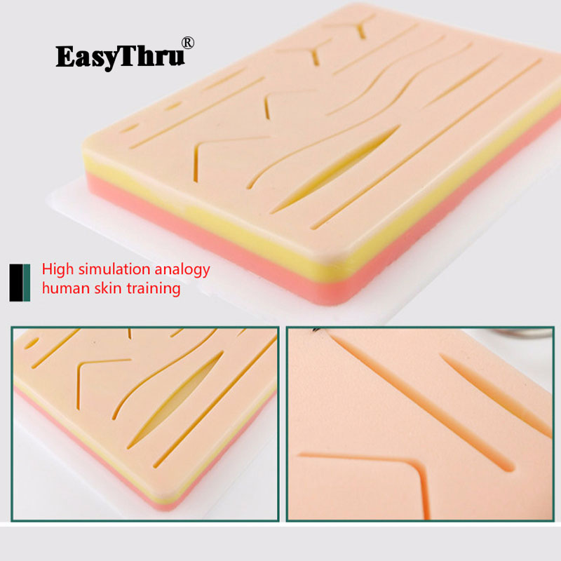 Surgical Skin Suture Practice Silicone Pad with Wound Simulated Skin Suture Module High Quality Surgical medical