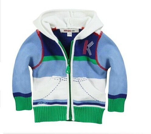 2014 New arrival French designer children fashion cotton hooded coat top quality boys brand Autumn Winter